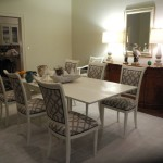 Dining area and rug