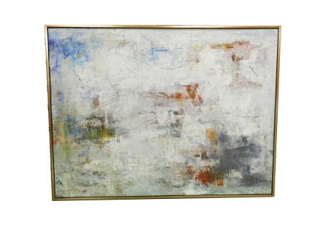 Abstract Painting with Gold Edge Frame - June DeLugas Interiors