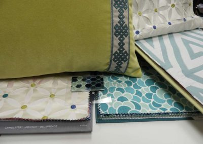fabric selections, pillows
