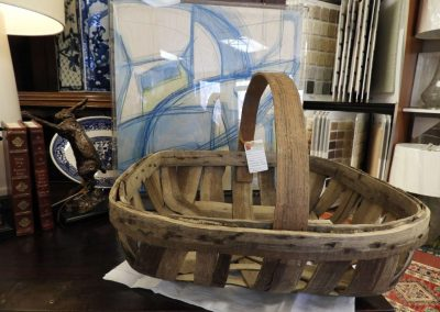 juxtapose, modern art, vintage basket