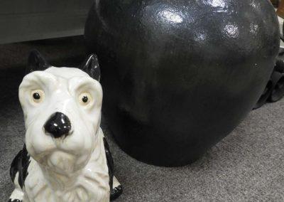 dog, vase, ceramics