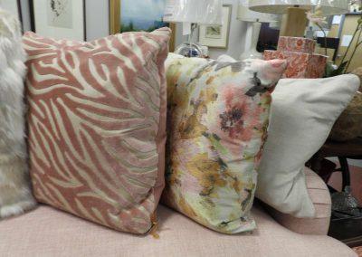 floral pillow, zebra pillow, pink colors